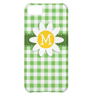 Spring Daisy; Green Checkered; Gingham iPhone 5C Case