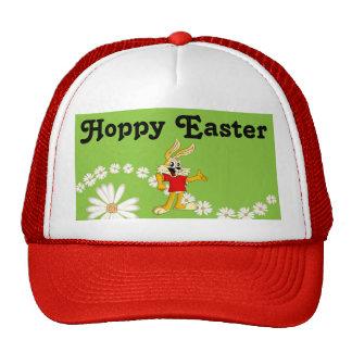 Spring Daisy Hoppy Easter Bunny Cap