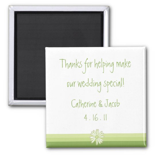 Spring Daisy Wedding Favour Magnet