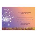Spring Dandelion Wedding RSVP 9 Cm X 13 Cm Invitation Card