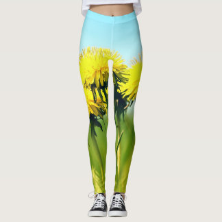 Spring dandelions leggings