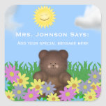Spring Day: Brown Bear:  Message Stickers
