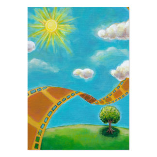 Spring day movie art fun painting for film lovers pack of chubby business cards