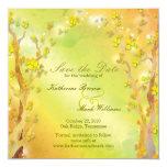 Spring Delight Bohemian Wedding Save the Date Custom Invite