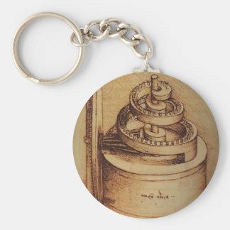 Spring Device by Leonardo da Vinci Key Chain