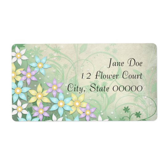 Spring Dream Floral Flower Address Labels