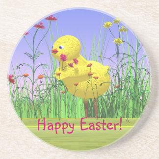 Spring Easter Chicken Drink Coaster