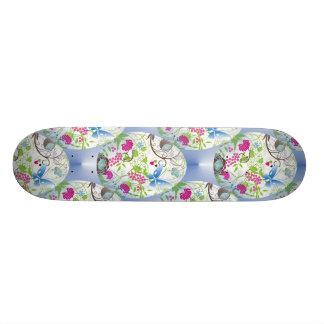Spring Easter Egg Butterfly Flowers Vines Design Skate Boards