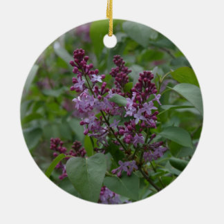 Spring/Easter: Japonica/Lilac Round Ceramic Decoration