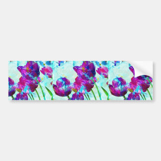 Spring Energies 4 Tulip Abstract Bumper Sticker