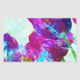 Spring Energies 4 Tulip Abstract Rectangular Sticker