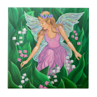 Spring Fairy Small Square Tile