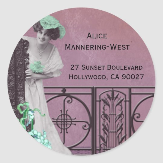 Spring Fancy in Rose and Green - Address Labels