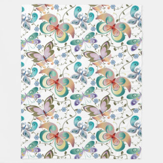 Spring Fantasy Butterfly Collection #9 Fleece Blanket