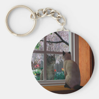 Spring Fever Basic Round Button Key Ring