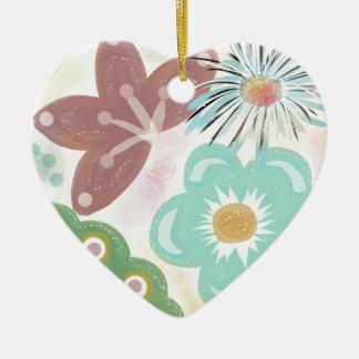 Spring Fever Ceramic Heart Decoration