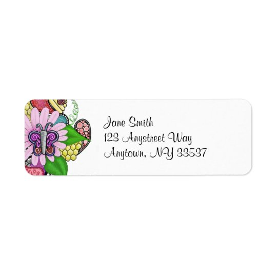 Spring Fever (colour) return address labels