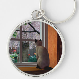 Spring Fever Silver-Colored Round Key Ring
