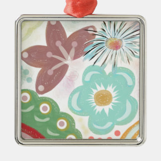 Spring Fever Silver-Colored Square Decoration