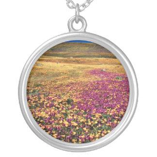 Spring fields of blooming wildflowers  flowers necklace