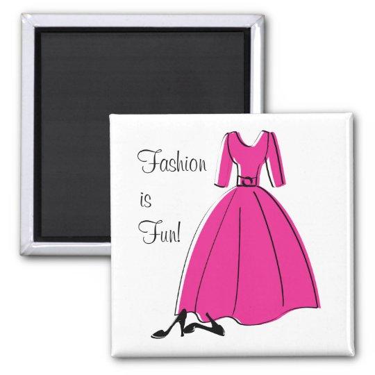Spring Fling Fashion Square Magnet