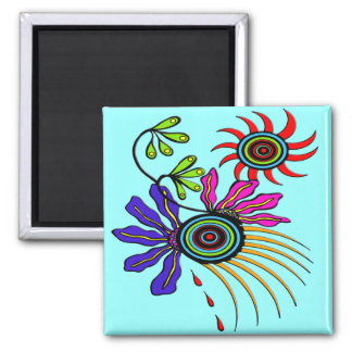 Spring Fling Square Magnet