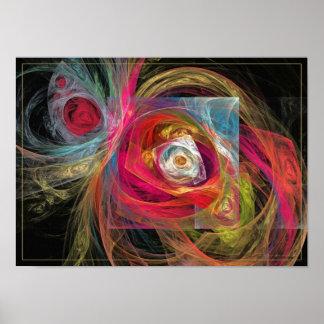 Spring floral - fractal art poster