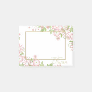 Spring Floral on White ID190 Post-it Notes