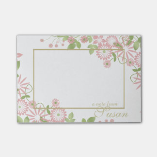Spring Floral on White ID190 Post-it® Notes