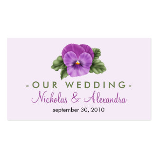 Spring Floral Pansies Wedding Website Card Pack Of Standard Business Cards