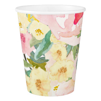 Spring Floral Paper Cups