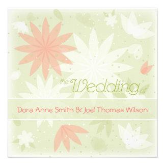 Spring Floral personalised wedding invitation