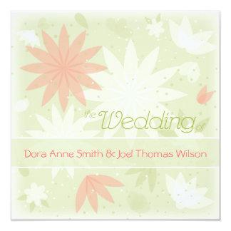 Spring Floral personalised wedding invitation 13 Cm X 13 Cm Square Invitation Card
