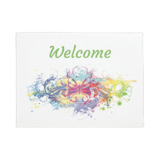 Spring Floral Welcome Mat