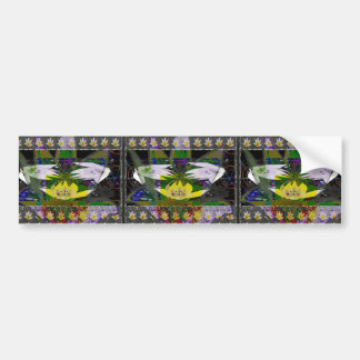 Spring Flower based Pattern Graphic Deco Art Gifts Bumper Stickers