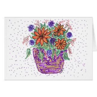 Spring Flower Basket Card