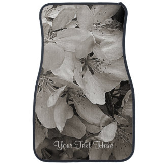 Spring Flower Blossoms Personalized Floor Mat
