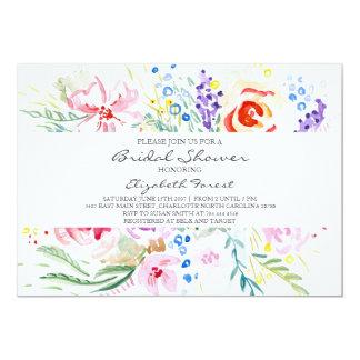Spring Flower bridal shower invitation