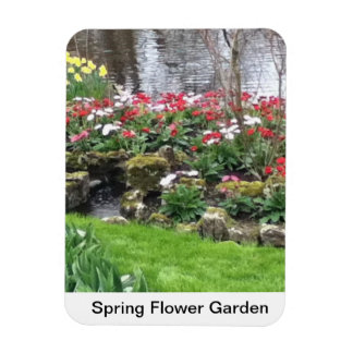 Spring Flower Garden Rectangular Photo Magnet