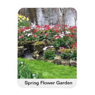 Spring Flower Garden Rectangular Photo Magnet