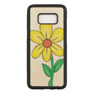 Spring Flower Illustration Carved Samsung Galaxy S8 Case