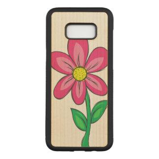 Spring Flower Illustration Carved Samsung Galaxy S8+ Case