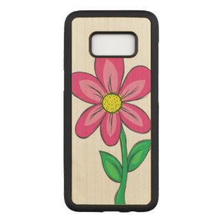 Spring Flower Illustration Carved Samsung Galaxy S8 Case