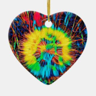 SPRING FLOWER.JPG CERAMIC HEART DECORATION