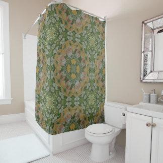 Spring Flower Mandala Shower Curtain