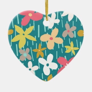 spring flower meadow christmas ornament