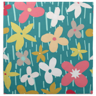 spring flower meadow napkin