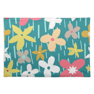 spring flower meadow place mat