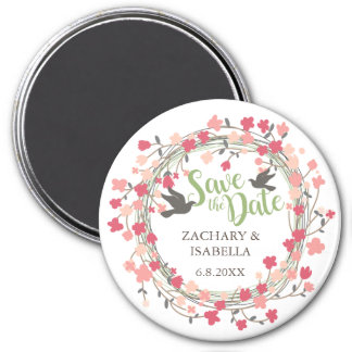 "Spring Flower Save the Date 3"" Magnet"