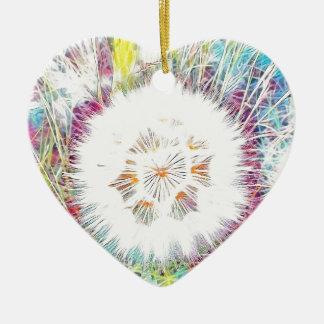 SPRING FLOWER V14 CERAMIC HEART DECORATION